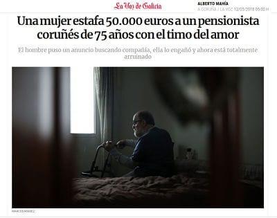 LA Voz. Una mujer estafa 50.000 €