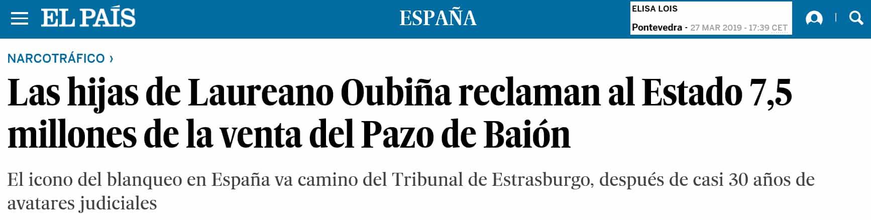 EL PAIS - LAUREANO OUBUÑA 28-3-2019 -1