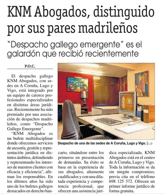 LA OPINION - PREMIO DE COLEGAS GALLEGOS 2016