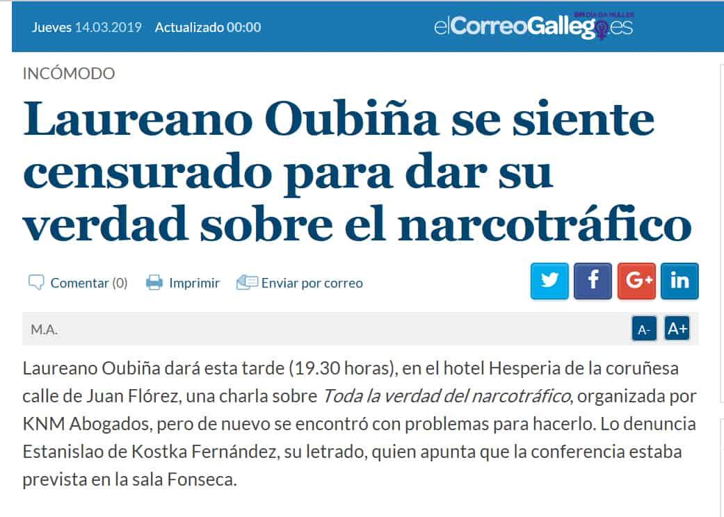 LAUREANO OUBIÑA CENSURADO - MARZO 2019