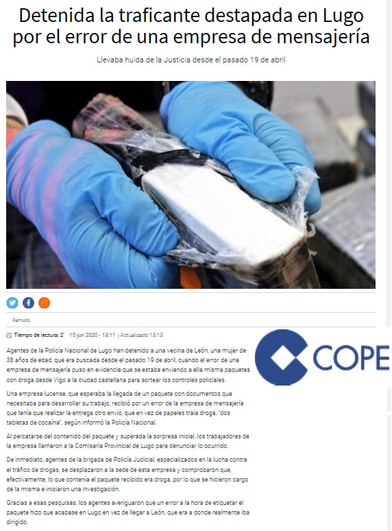 COCAINA - DETENIDA ENVIO POR ERROR 2 - KOSTKA FERNANDEZ ABOGADO