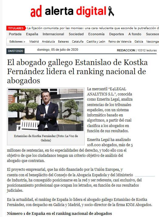 KOSTKA FERNANDEZ ABOGADO Nº 1 - ALERTA DIGITAL 1